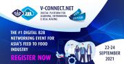การจัดงานแสดงสินค้าและสัมมนาด้านปศุสัตว์และสัตว์น้ำแห่งเอเชียรูปแบบออนไลน์ V-Connect Asia Edition